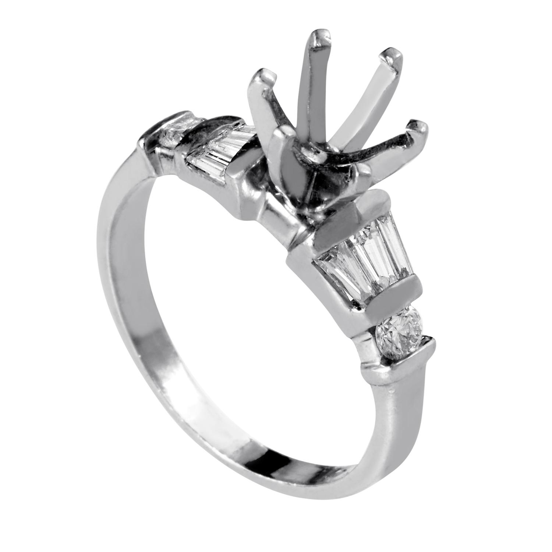 Women's Platinum & Diamond Engagement Ring Mounting MFC09-041213