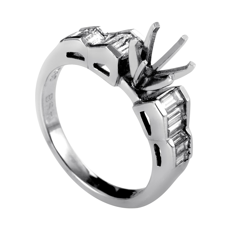 Women's Platinum & Diamond Engagement Ring Mounting MFC10-041213