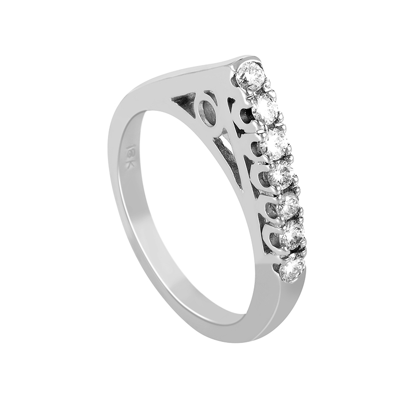 Women's 18K White Gold Diamond Ring MFC18-050615W