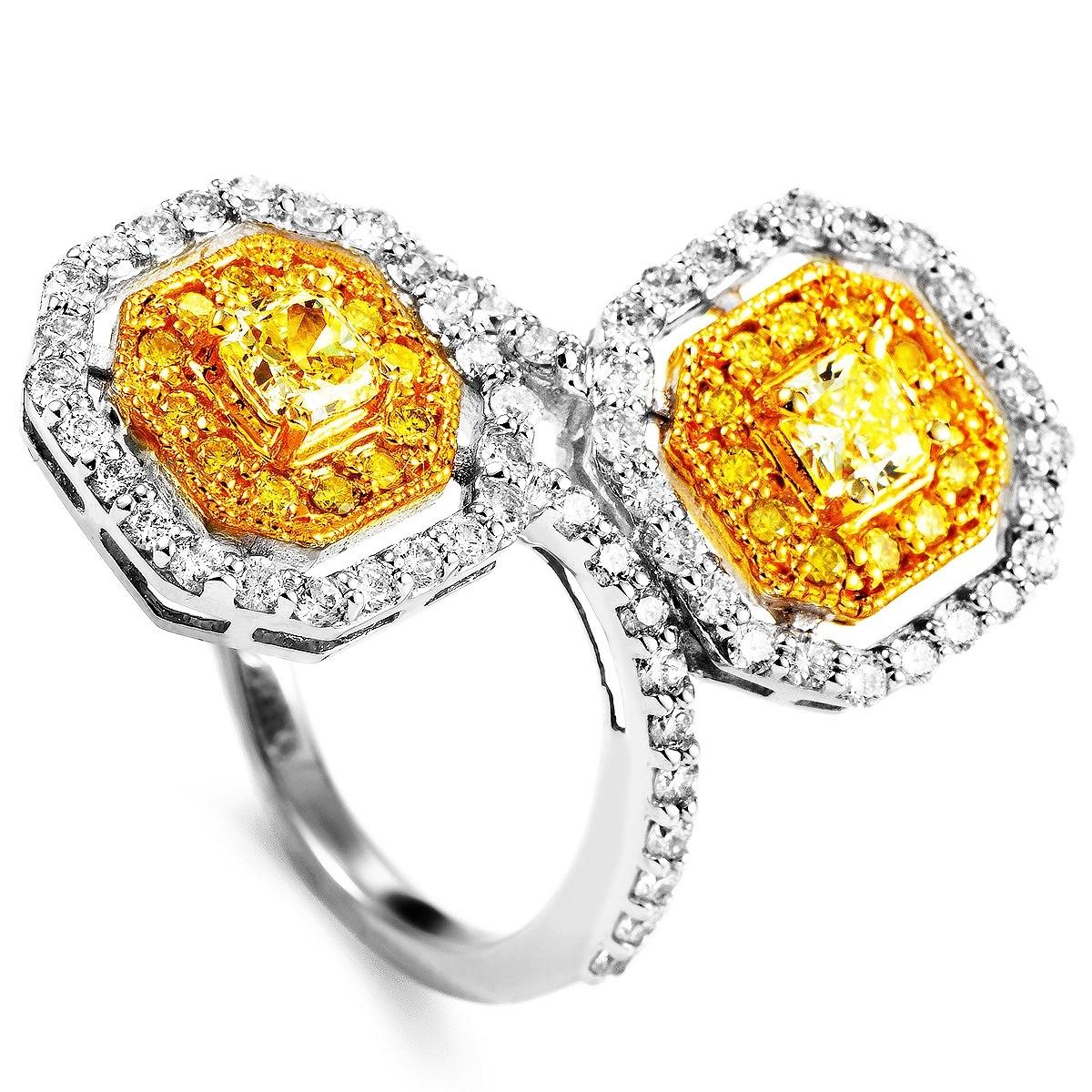 18K Multi-Gold & Diamond Ring MFC22-011315