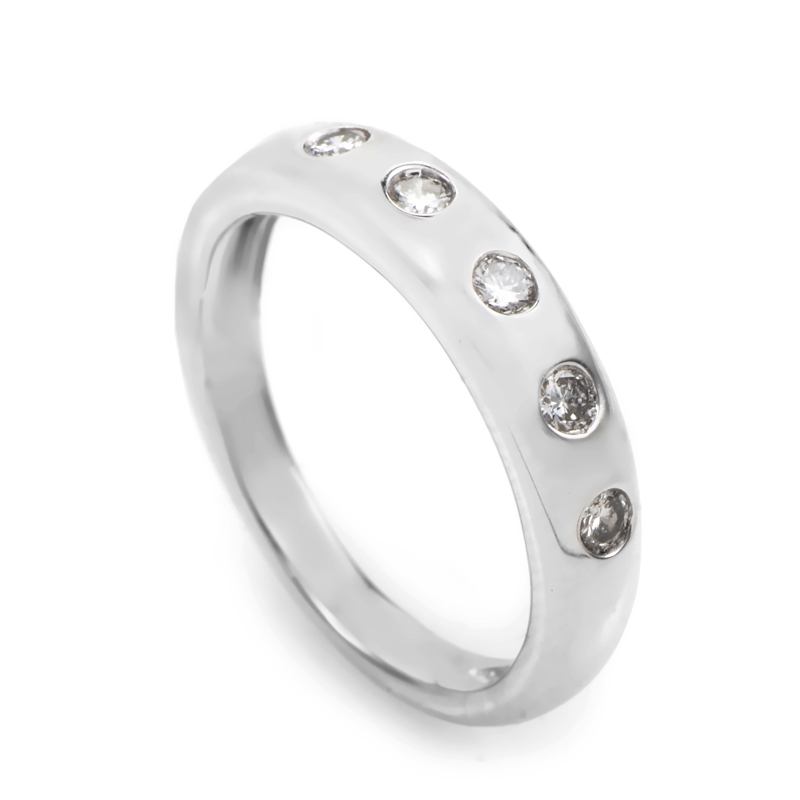 18K White Gold Diamond Ring MFC25-052213
