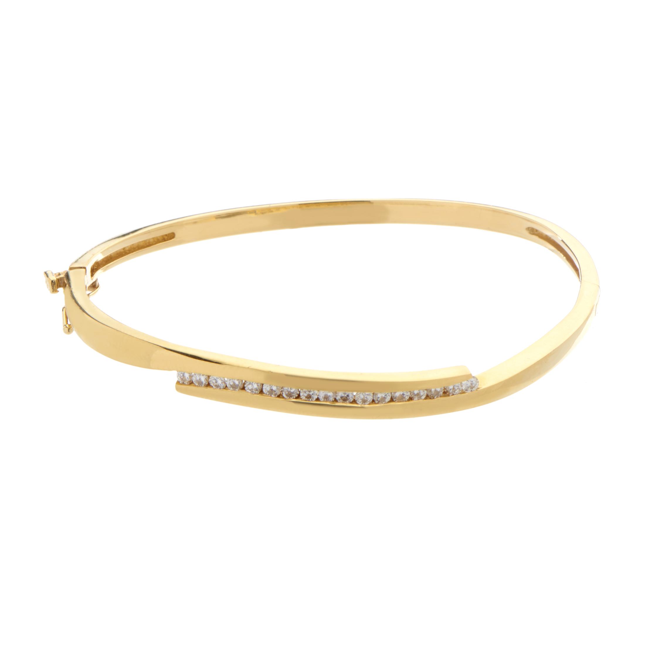 bracelets women 39 s 18k yellow gold channel set diamond. Black Bedroom Furniture Sets. Home Design Ideas