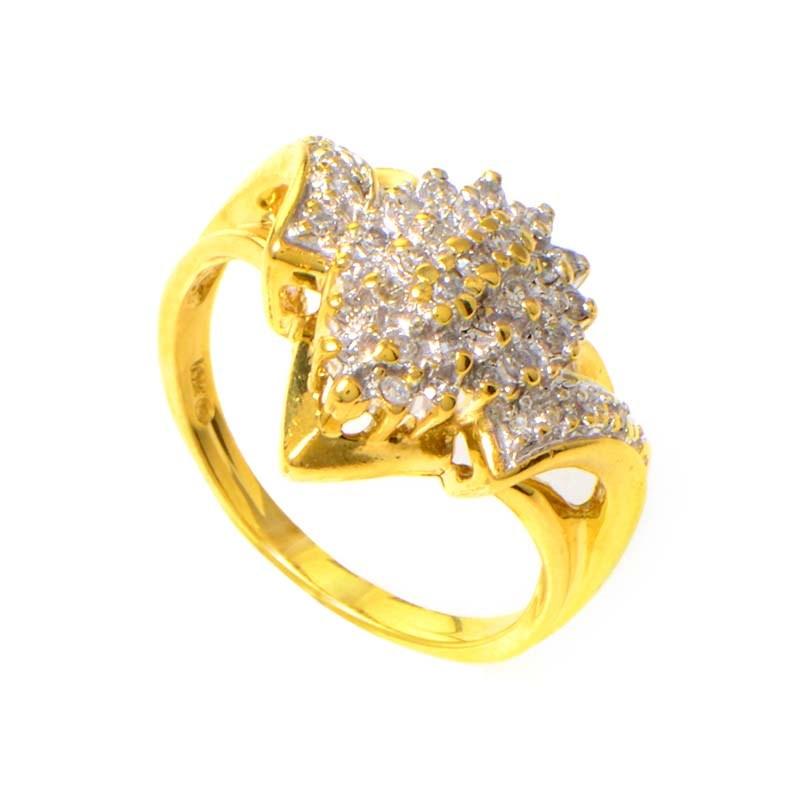 10K Yellow Gold Diamond Ring MFCO23-010813