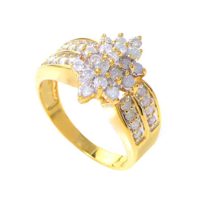 10K Yellow Gold Diamond Ring MFCO24-010813