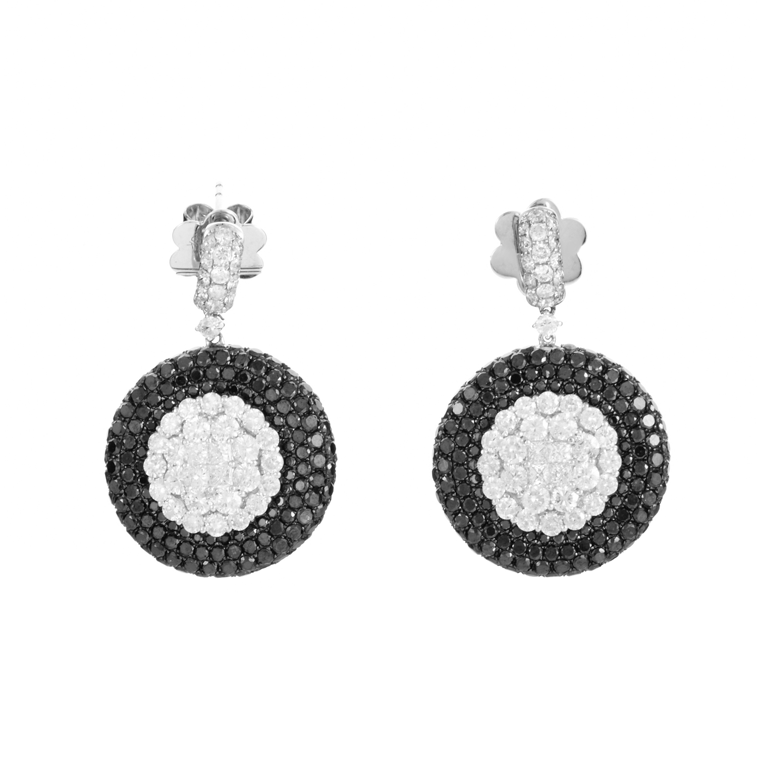18K White Gold & Diamond Earrings PM-41