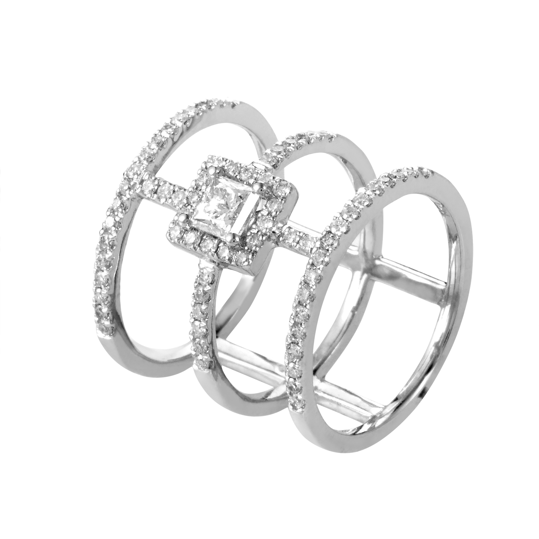 14K White Gold Diamond Band Ring RD4-10237W