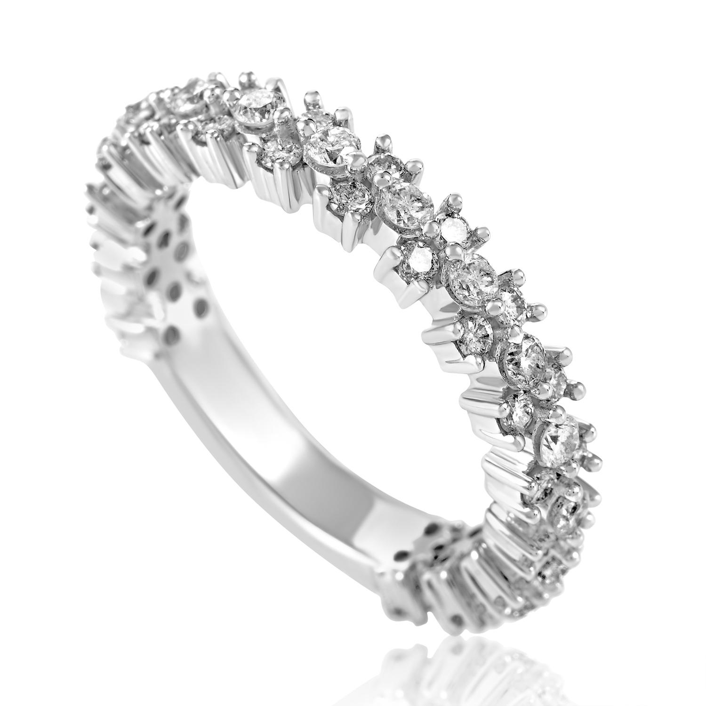 Women's 14K White Gold Diamond Band Ring RG01985-W4P