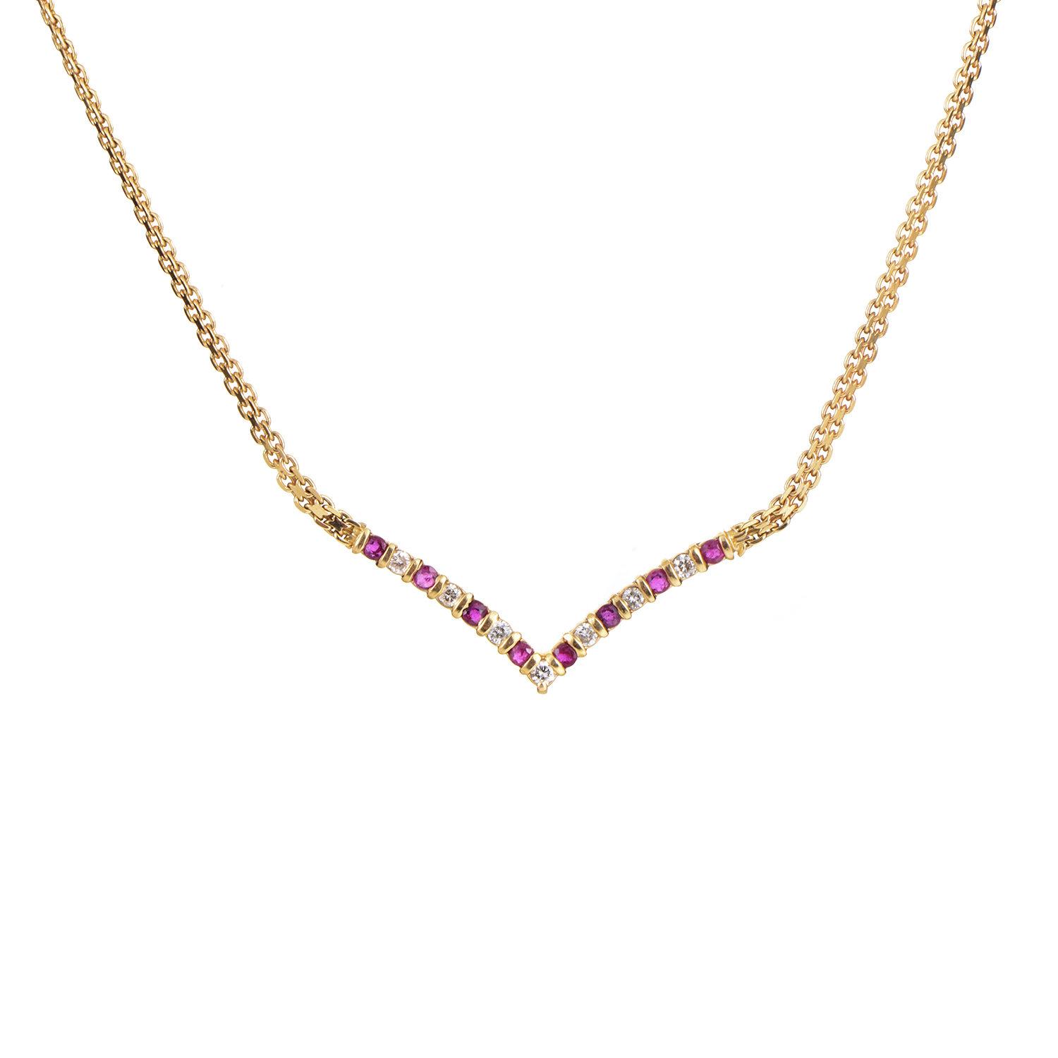 14K Yellow Gold Diamond & Ruby