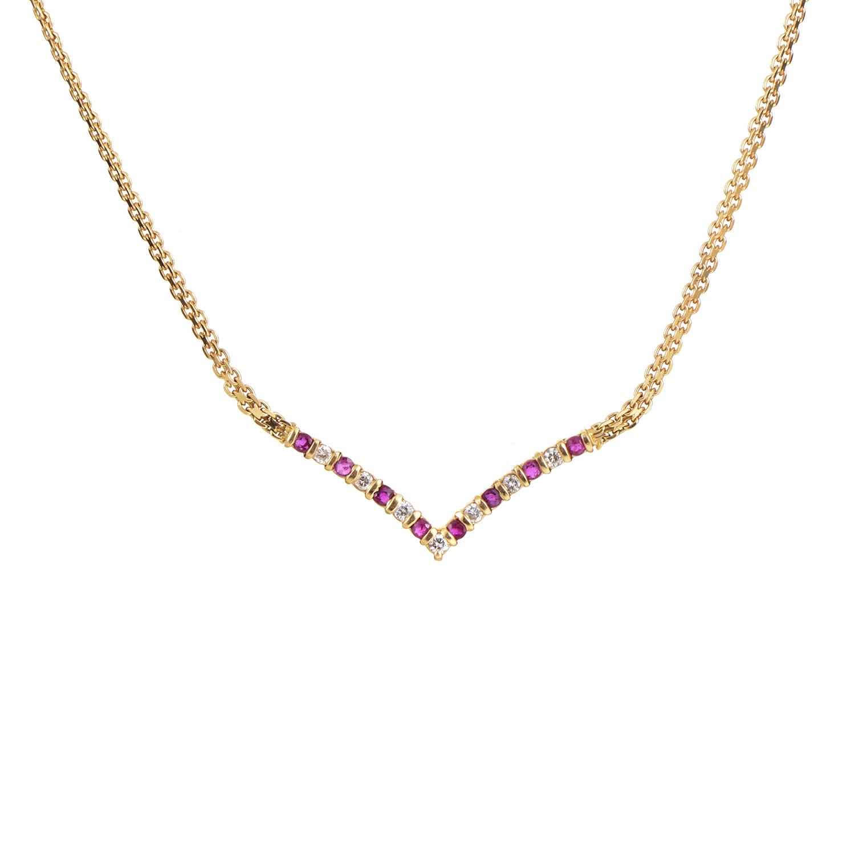 14K Yellow Gold Diamond & Ruby