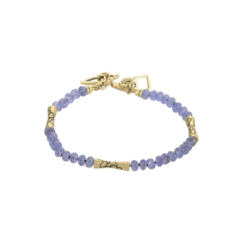 18K Yellow Gold Sapphire Bead Bracelet SH0093095W