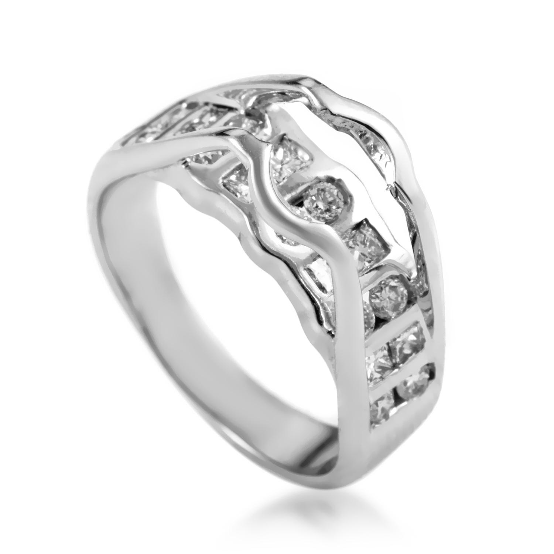 Women's 14K White Gold Diamond Engagement Ring Mounting SM4-051090W