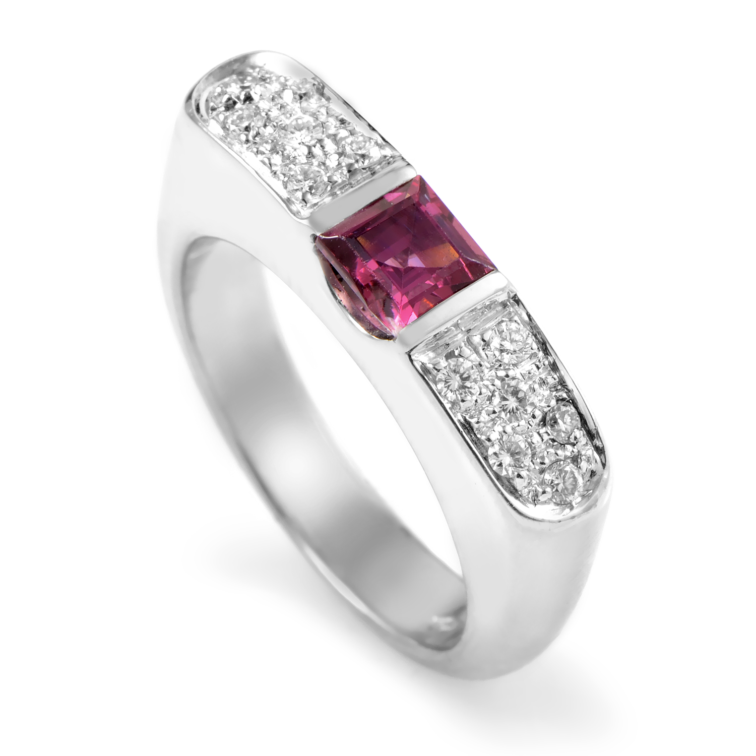 18K White Gold Diamond & Tourmaline Ring SN0098633ALTRM