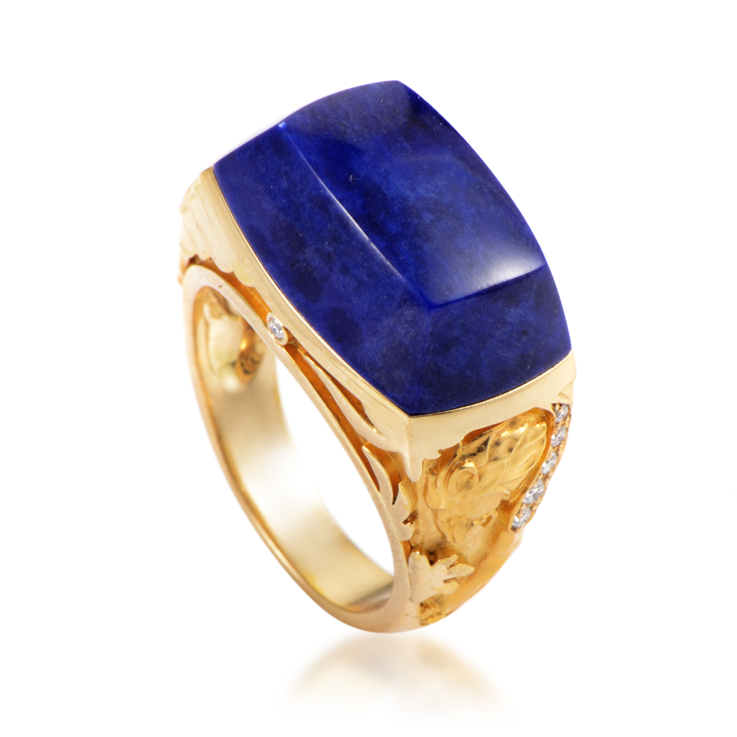 Babylon Women's 18K Yellow Gold Diamond & Lapis Lazuli Cocktail Ring