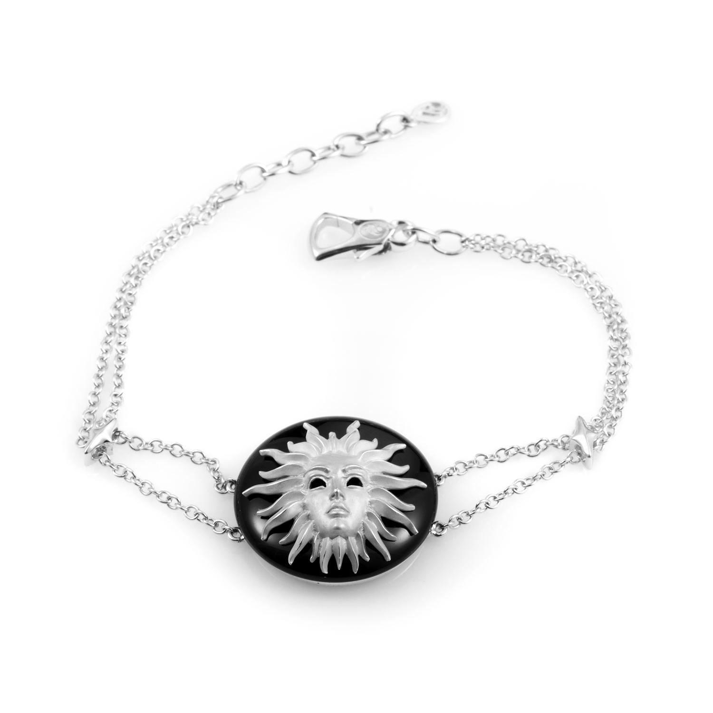 Versailles Women's 18K White Gold Culpa Sol Onyx Bracelet