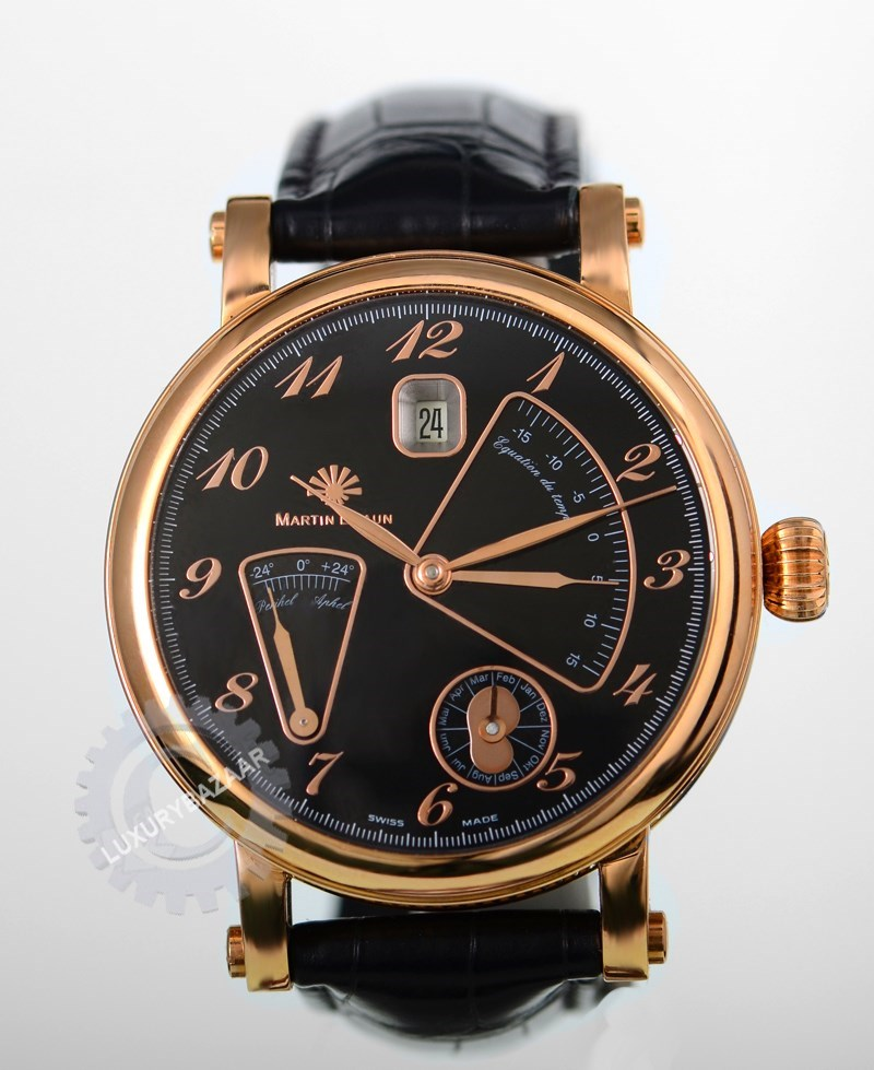 Martin Braun Notos Rose Gold Black Leather MB261WRGC