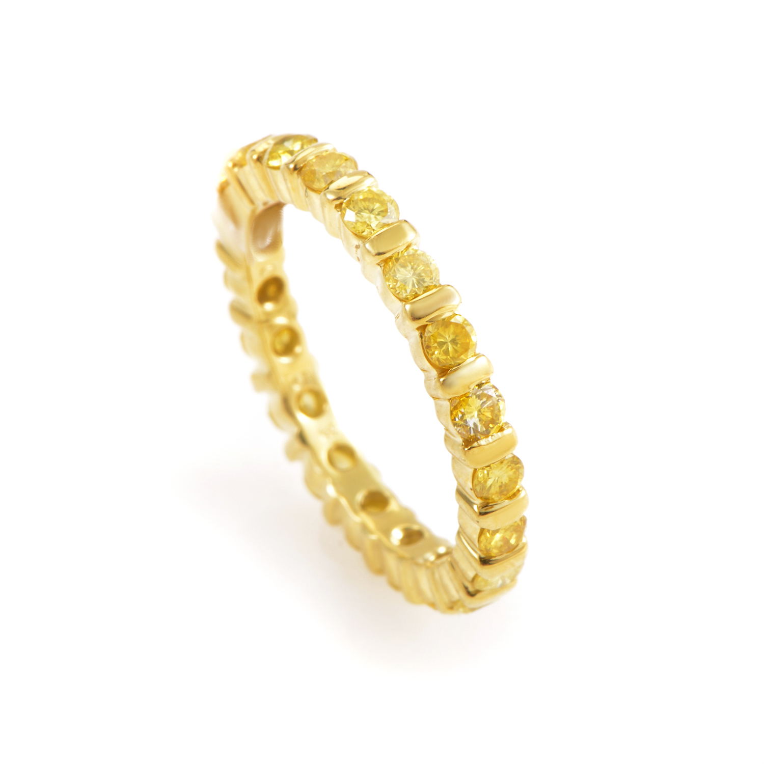 18K Yellow Gold Yellow Diamond Eternity Band