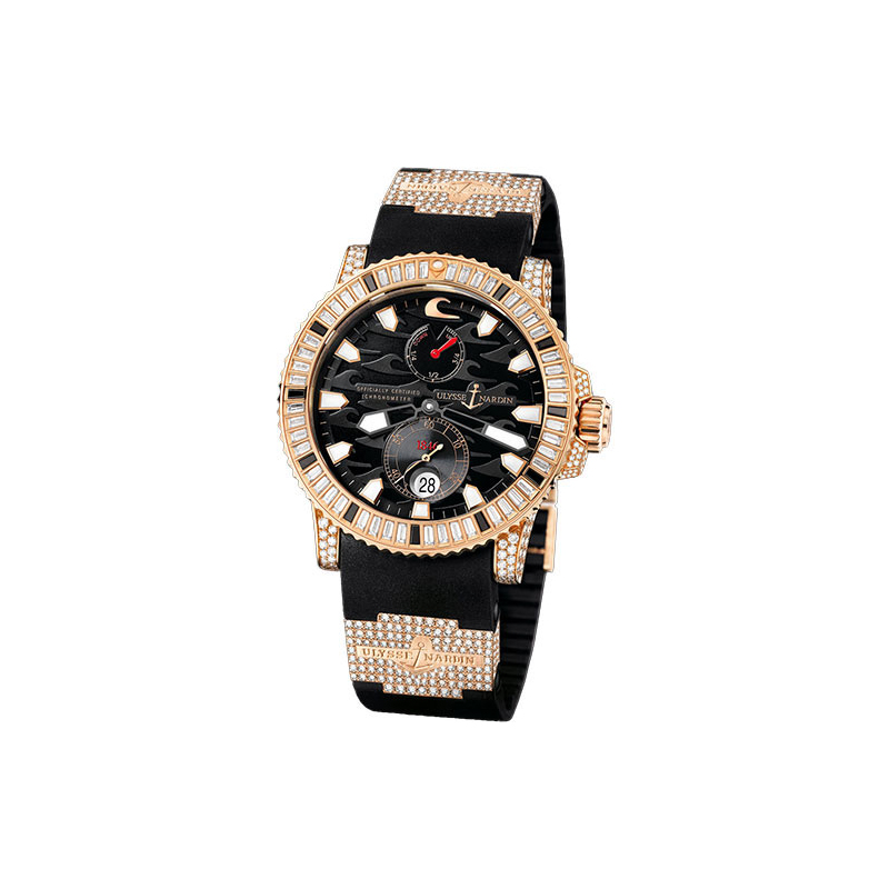 Maxi Marine Diver (RG-Diamonds / Black / RG-Rubber-Diamond Strap)