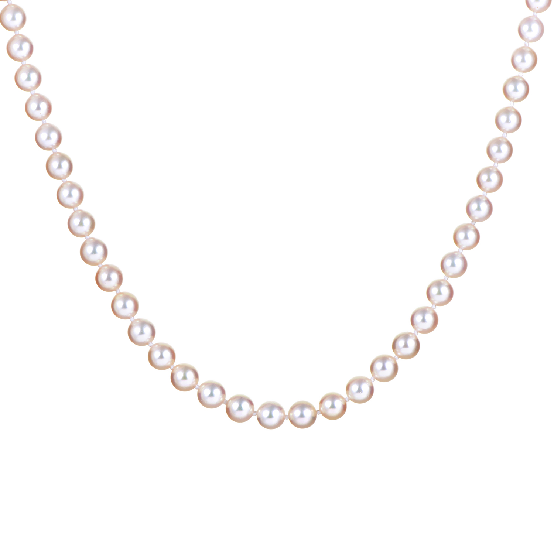 Mikimoto Women's 14K White Gold Pearl Necklace MC0104559AE