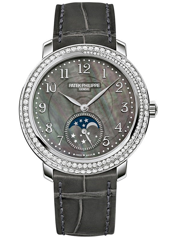 Moon Phases Ladies White Gold 4968G-001