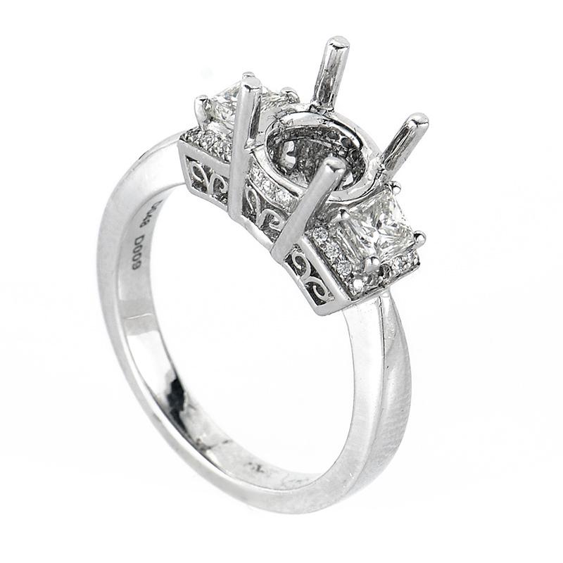Trois Diamants Engagement Ring Mounting NAKAG15-082812