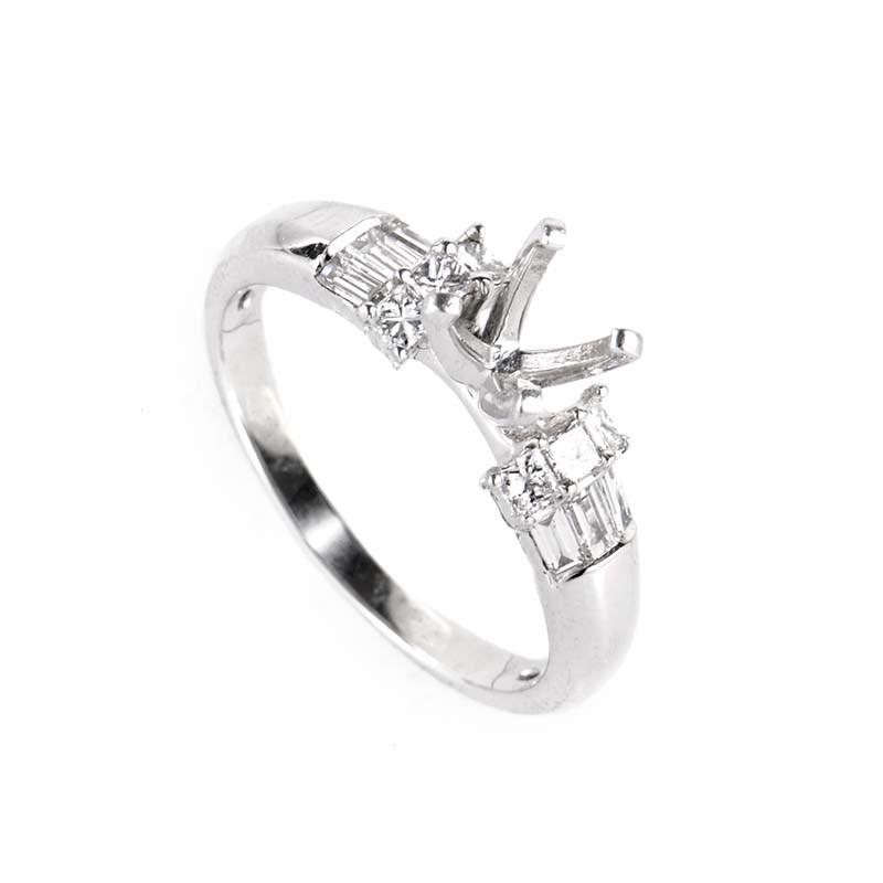 Platinum Diamond Ring Mounting ENP-061653
