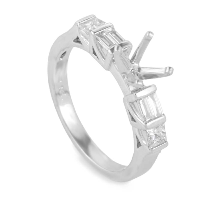 Stunning Platinum Mounting Ring LBD-0647816NAK