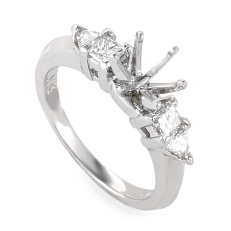 Platinum & Diamond Engagement Ring Mounting NAK05-062813