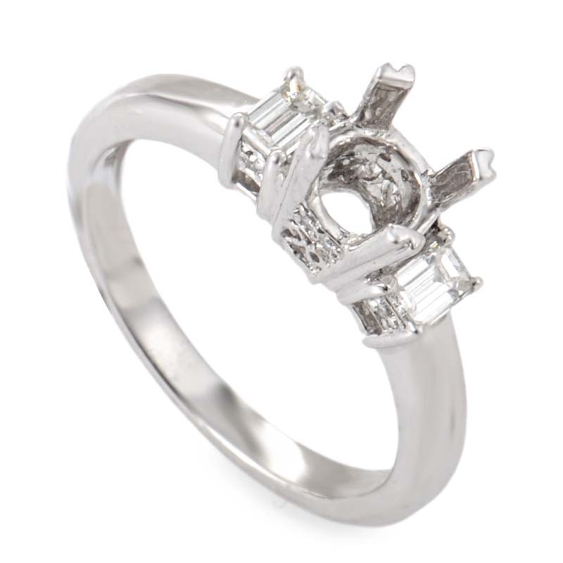 Platinum & Diamond Engagement Ring Mounting NAK08-062813