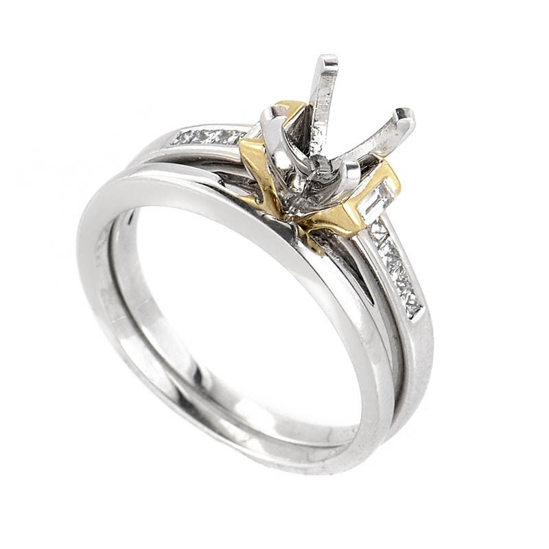 14K Multi-Tone Gold & Diamond Bridal Mounting SM4-031156