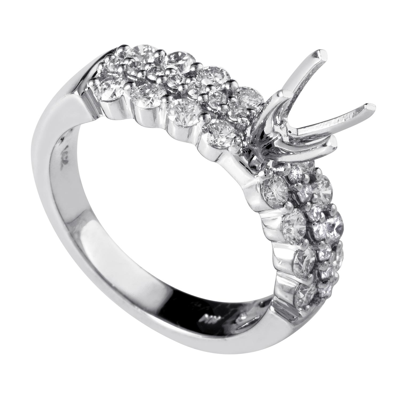 14K White Gold Diamond Engagement Ring Mounting RE4-10192W