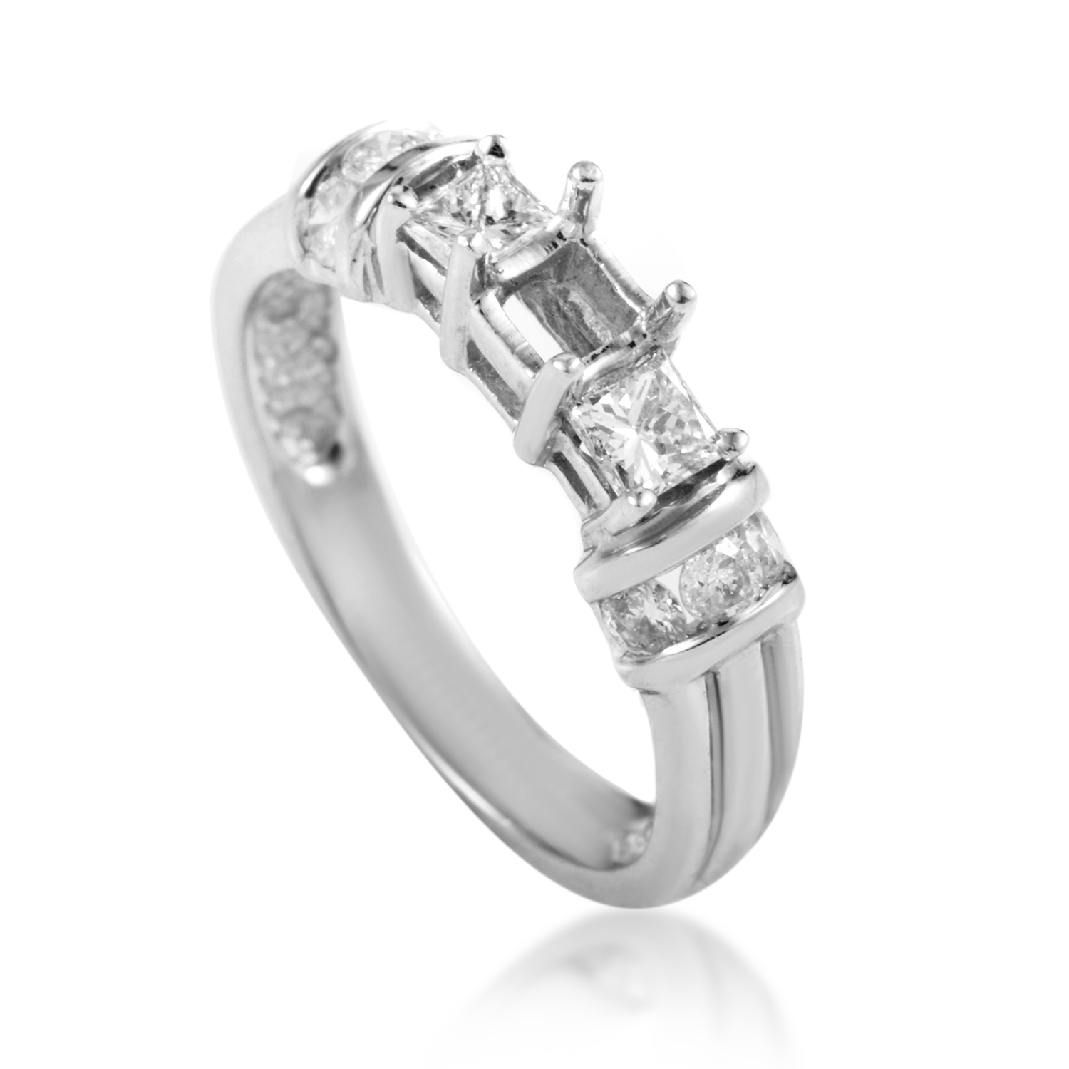 14K White Gold Diamond Engagement Ring Mounting EN4-061162W