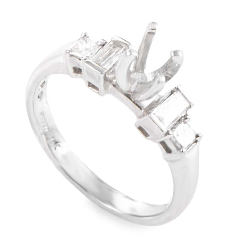 Platinum & Diamond Engagement Ring Setting LBD-0649429NAK