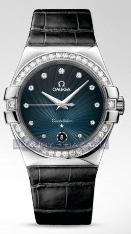 Constellation Quartz with Diamonds (SS / Blue / Strap)