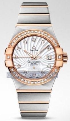 Omega Constellation Brushed Chronometer with Diamonds 123.25.31.20.55.001
