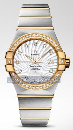 Omega Constellation Brushed Chronometer with Diamonds 123.25.31.20.55.002