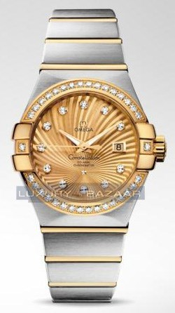 Omega Constellation Brushed Chronometer with Diamonds 123.25.31.20.58.001