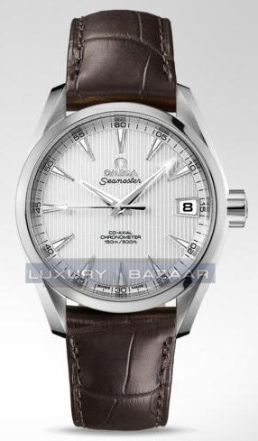 Seamaster Aqua Terra Mid Size Chronometer (SS / Teck-Opaline Silver / Strap)