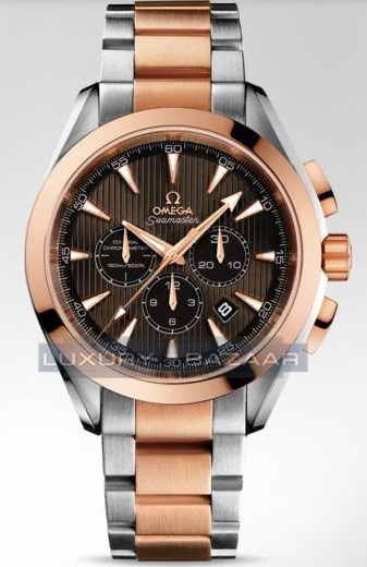 Seamaster Aqua Terra Chronograph (SS- RG / Teck-Grey / Bracelet)