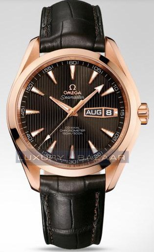 Seamaster Aqua Terra Annual Calendar (RG / Teck-Grey / Strap)
