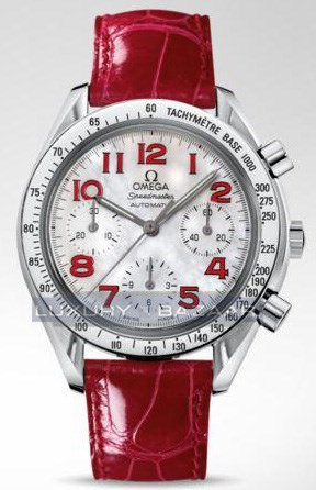 Speedmaster Reduced Chronograph (SS / White-Mother-of-Pearl / Strap)