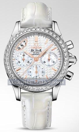Deville Co-Axial Chronograph with Diamonds 422.18.35.50.05.001