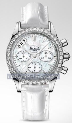 Deville Co-Axial Chronograph with Diamonds 422.18.35.50.05.002