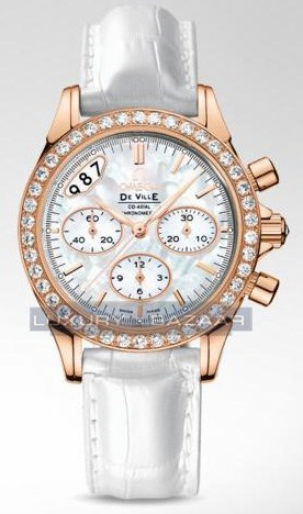 Deville Co-Axial Chronograph with Diamonds 422.58.35.50.50.002