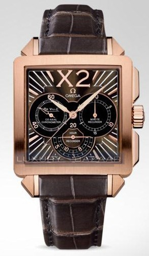 Deville X2 Co-Axial Chronograph (RG / Brown / Strap)