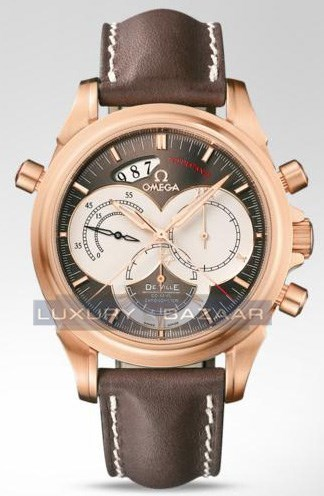Deville Co-Axial Rattrapante (RG / Brown / Strap)