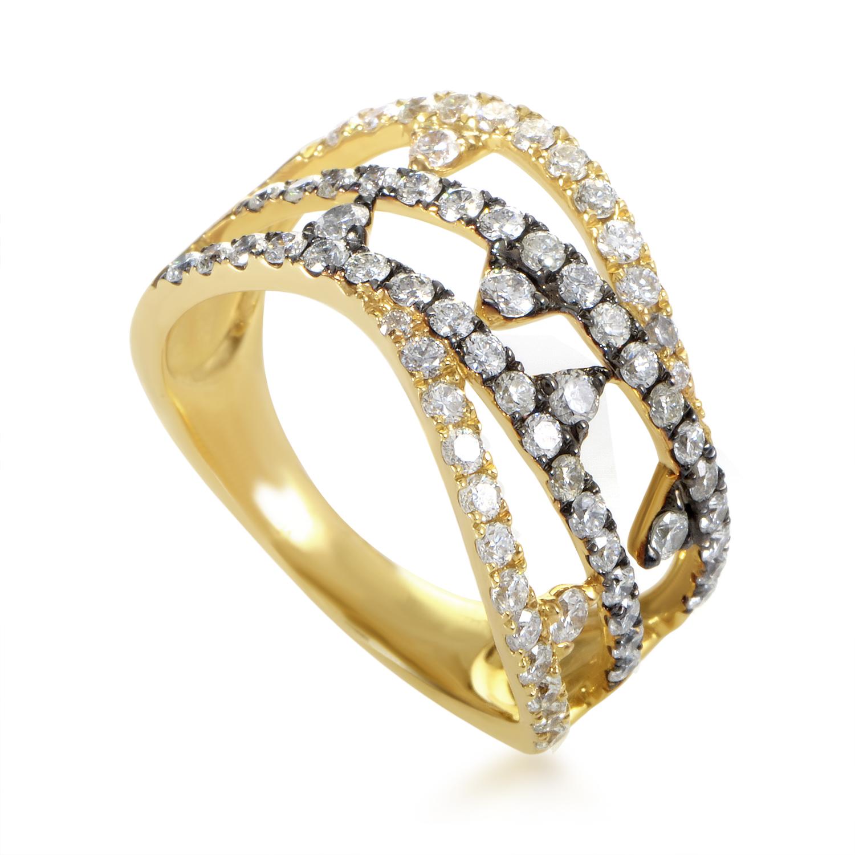 18K Yellow Gold Diamond Band Ring ALR-10535YBR
