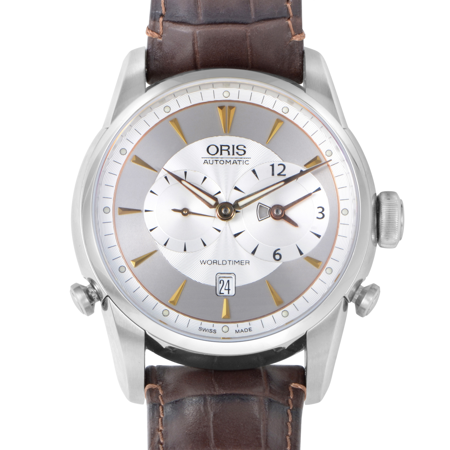 Artelier Worldtimer Mens Stainless Steel Automatic  0169075814051-0752248
