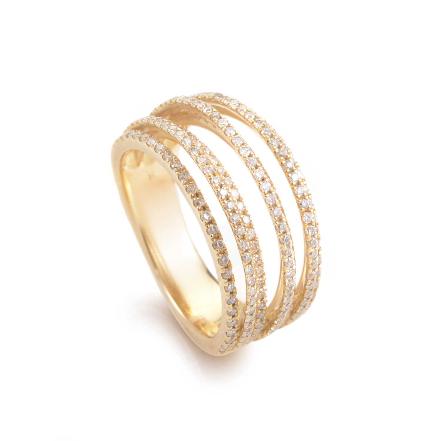 18K Yellow Gold Diamond Band Ring ALR-10285Y