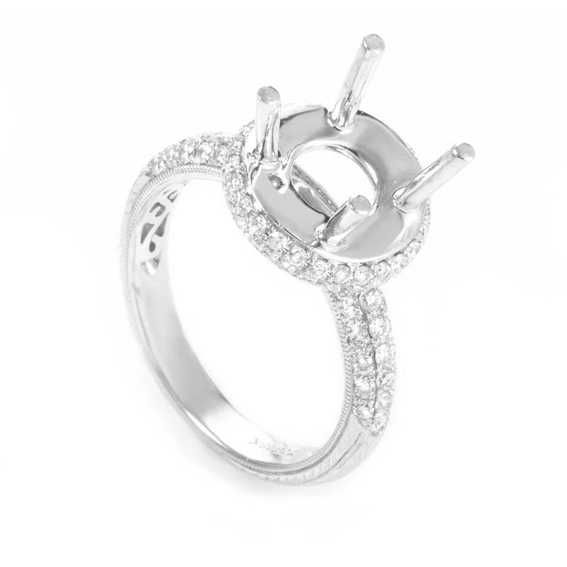 18K White Gold Diamond Mounting Ring ED-9503W