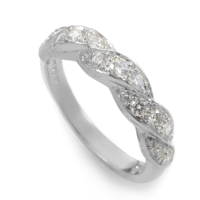 Oscar Heyman Women's Platinum Braided Diamond Band Ring